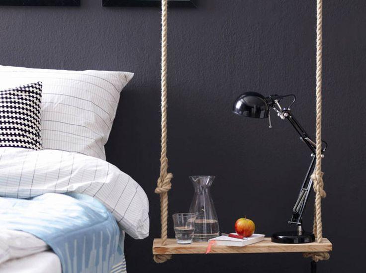 DIY : Une Table De Chevet Suspendue Près De Votre Lit