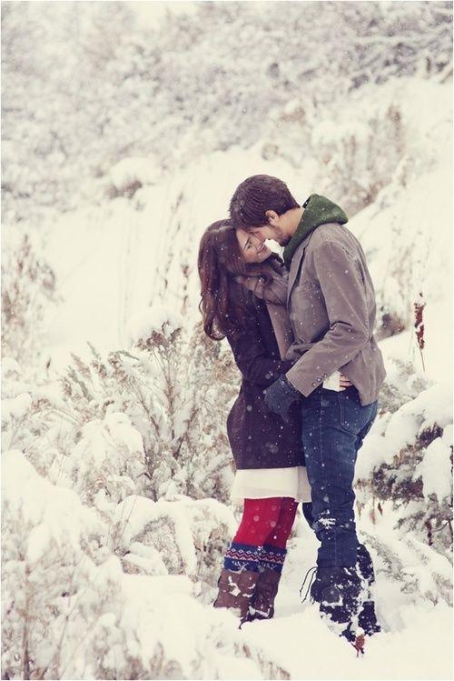 SNOWY #Love #Couple