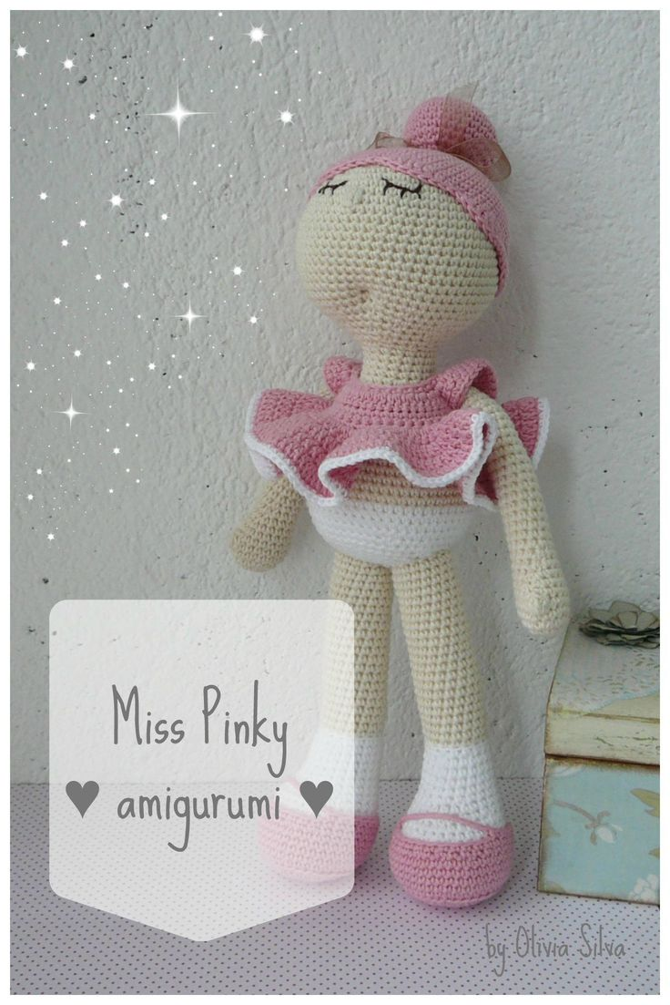 Amigurumi Patrón PDF, Miss Pinky {INGLÉS}