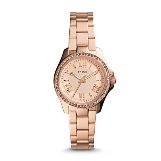 Refined and reinvented for fall, the chic Cecile you know and love arrives in a new petite size. Fifty-four sparkling rose stones and classic Roman numerals modeled after vintage clocks prove it's timeless in more ways than one.*Modeled after vintage clocks, our Roman numerals are uniquely designed to provide artistic balance to the dial.