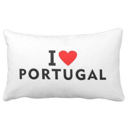 I love Portugal country like heart travel tourism Lumbar Pillow - heart gifts love hearts special diy