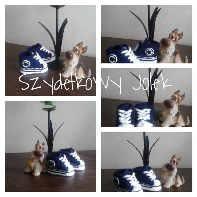 #buciki #dziecko #małe #crochet #conwersy #szydelko