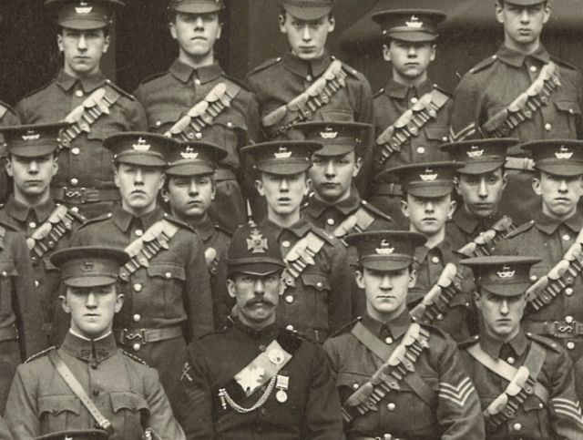Newly discovered picture of Tolkien in the Cadet Corps, King Edward's School, Birmingham, 1907 (click for full article).