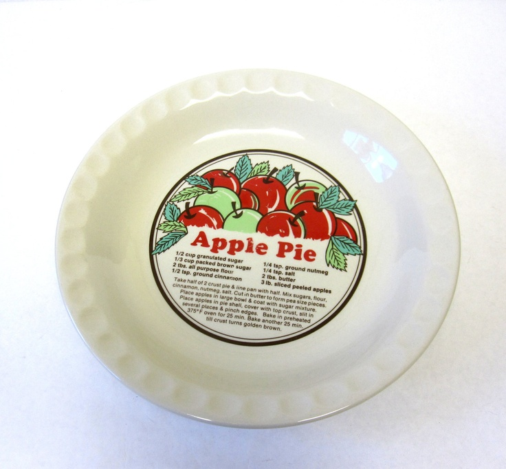 Vintage pie pan Harker Hotoven pie plate apple pear designcollectable pie plateOldest Pottery in America | Pie plate Apple pear and Pear  sc 1 st  Pinterest : large red decorative plate - pezcame.com