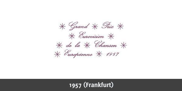 Eurovision Song Contest 1957 logo