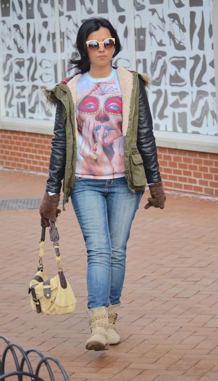 Winter Survival ~ MARIESTILO  #vintage #ootd #mystyle #styleblogger #jeansoutfits #jeans #armycoat #abrigos #winterstyle #invierno #fashionista #streetfashion #streetstyle