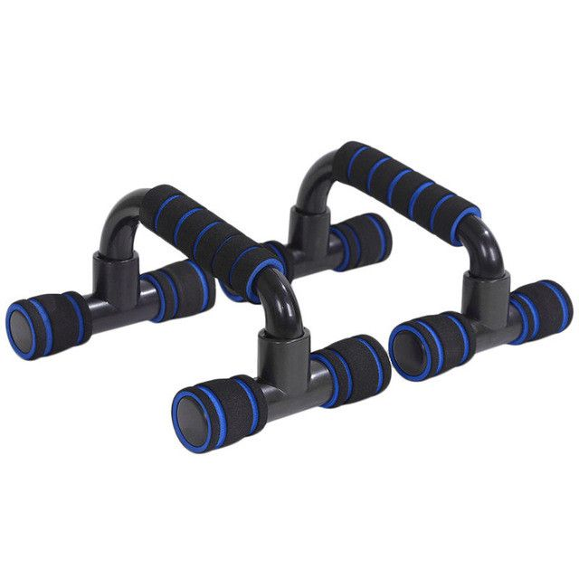 1 Pair of Push Up Bar Stands I-Type Handles Fitness Enquipment Gym Home Muscle Training Tools