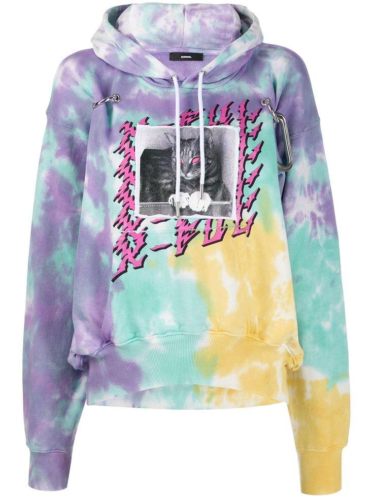 Diesel hook tiedye hoodie farfetch tie dye hoodie
