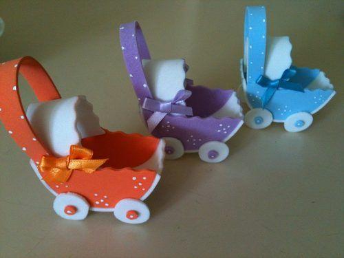 Recuerdos Baby Shower, Nacimiento Foami Cochecitos Bs. 60
