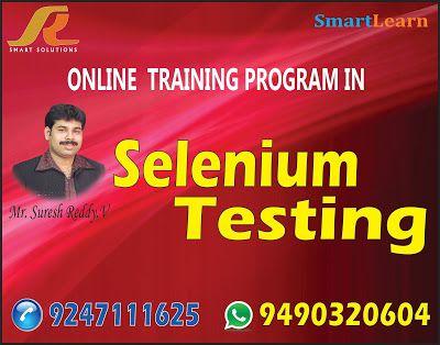 Software Testing Tools Training: Selenium training institute in hyderabad