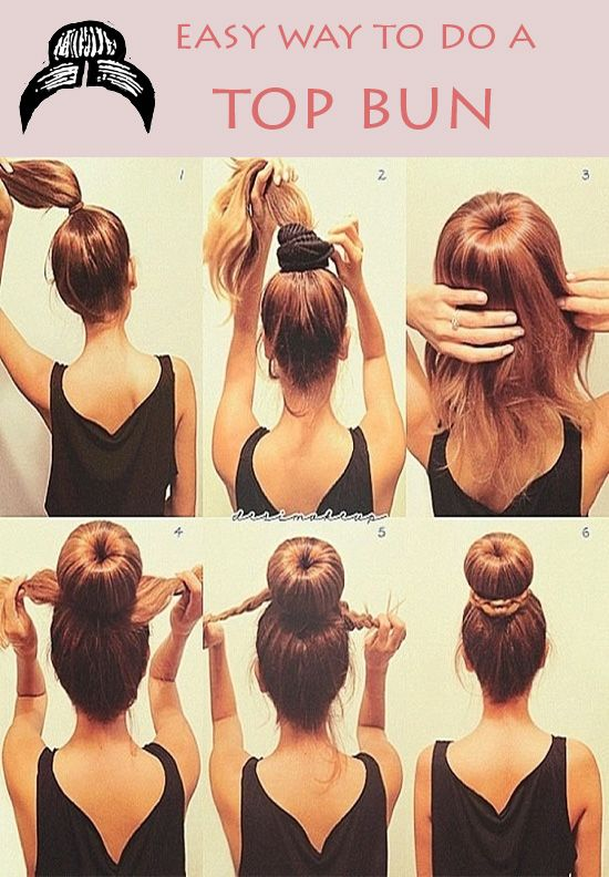 #hair bun tutorial instructions cute fashion hot pinner said: 1.) Place your