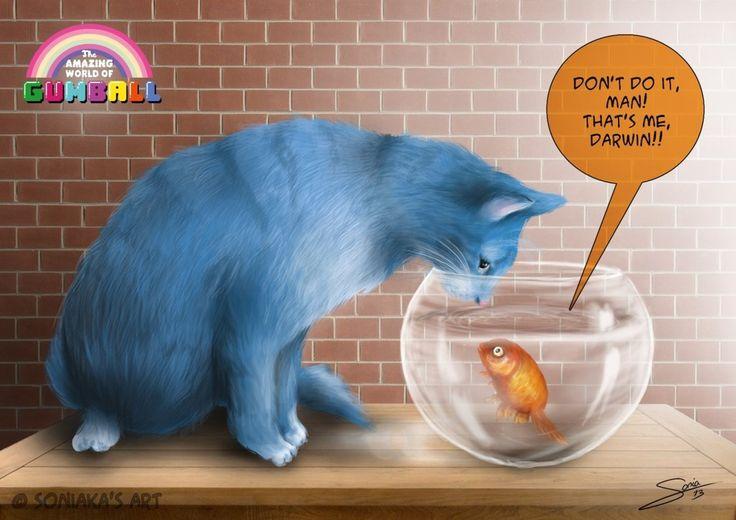 Una fan fiction de GUMBALL... ¡asombrosa!  Vía @soazre en nuestro Twitter @cartoonnetworke.  Fuente: http://soniaka.deviantart.com/art/Don-t-do-it-man-382390761