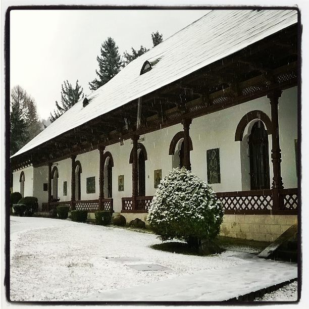 Sinaia Monastery in a Spring day :) I know, it doesn't seem right with this fresh layer of snow, yet March came in as a lamb and came out as a lion :)