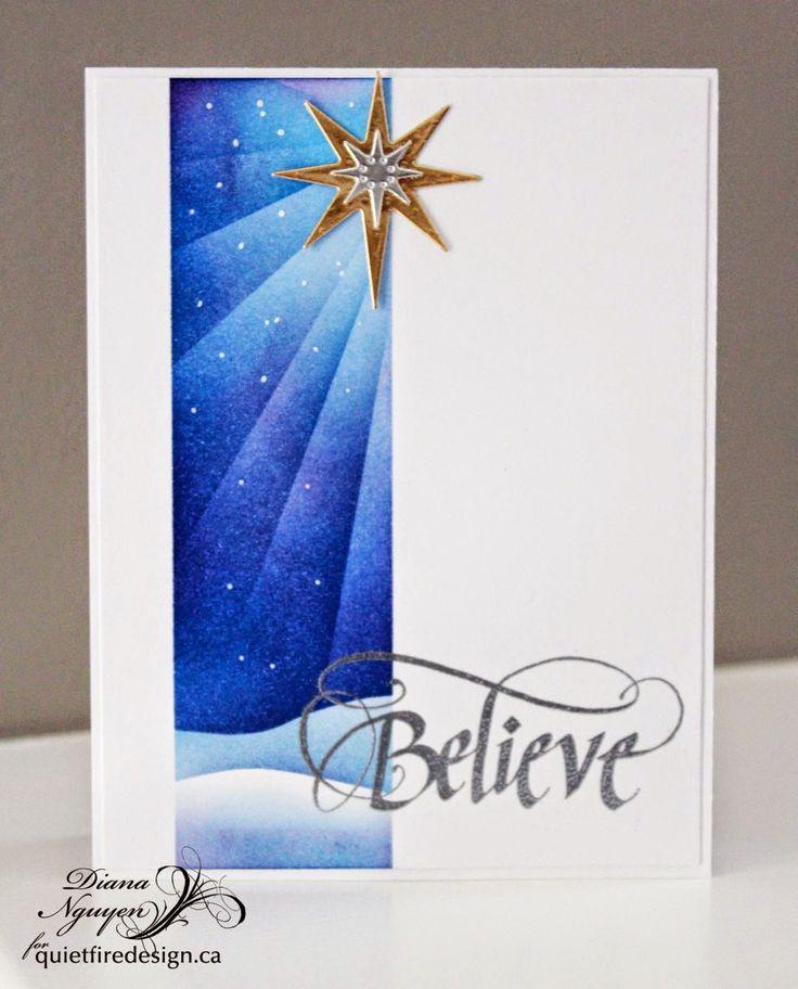 Quietfire Design, Diana Nguyen, CAS, Christmas, card, Believe