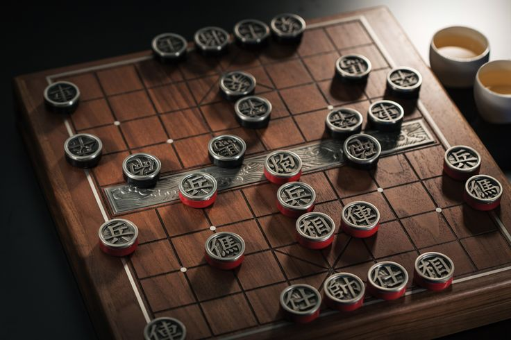 Chess Set (Chinese) - The rich cultural legacy of Chinese chess reaches its fullest expression in Royal Selangor's latest version of this popular board game. #pewter #RoyalSelangor #chess