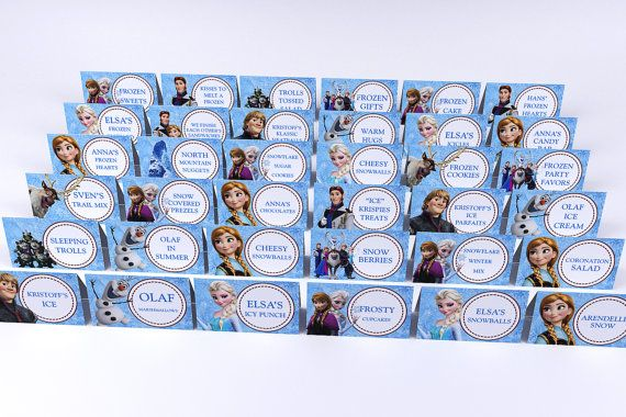 Christmas SALE - 80% OFF Disney FROZEN Birthday Party Food Labels with 50+ names! - Printable