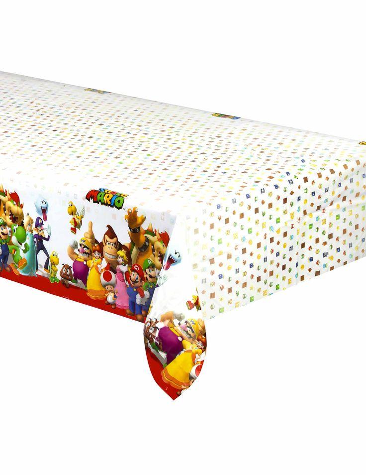 Tovaglia in plastica Super Mario™ su VegaooParty, negozio di articoli per feste. Scopri il maggior catalogo di addobbi e decorazioni per feste del web,  sempre al miglior prezzo!