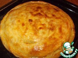 """Пирог с картофелем и мясом """"Цкан"""" Источник: http://www.povarenok.ru/recipes/show/145717/"""