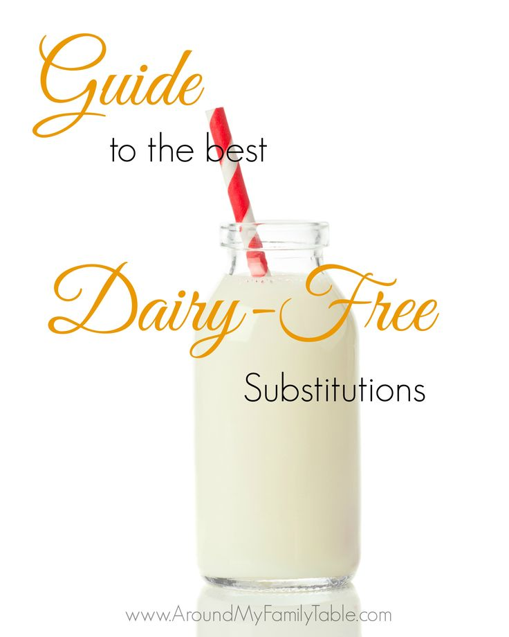 Dairy Free Substitutions and Alternatives for those that are lactose intolerant or have dairy allergies.