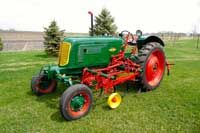 1946 Oliver 70 with 1095 Pipe Cultivator with rear drags
