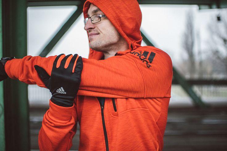 Bluza Adidas Climaheat Hoody Rękawiczki Adidas Running Climawarm Gloves  #sports #wear #lookbook #Adidas #sport #running #run #runners #runnersworld