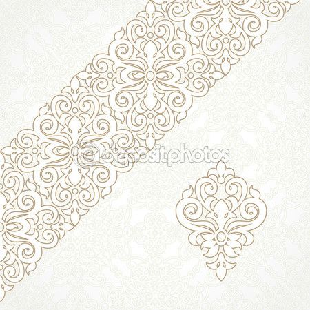 Lace border — Stock Illustration #49253631