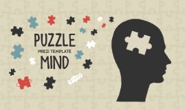 Prezi Template with a puzzle mind concept.  Show the answers to some difficult questions!  Head silhouette with various puzzle piece shapes.  Combine the puzzle pieces to illustrate connections.  All objects are separated, rearrange or duplicate and create your own unique layout.