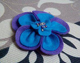 Odznaky/Brošne - Modro-fialová - 4911508_