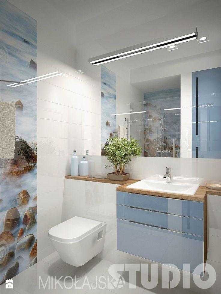Niebieska łazienka - zdjęcie od MIKOŁAJSKAstudio - Łazienka - Styl Nowoczesny - MIKOŁAJSKAstudio