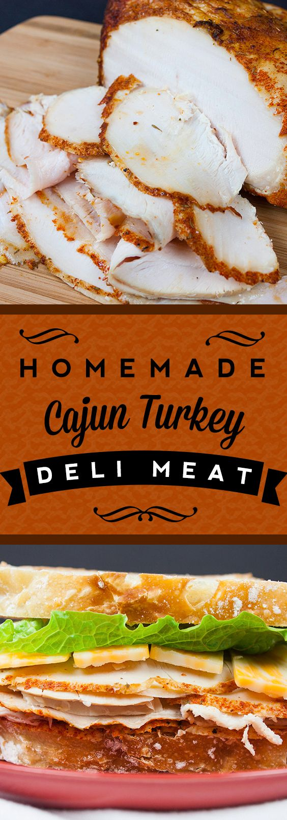 Homemade Cajun Turkey Deli Meat - You will never pay those outrageous prices again! Easy, tender and so flavorful Cajun Turkey deli meat.