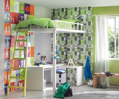 papel pintado kids club rasch juveniles pinterest habitacin juvenil papel pintado infantil y papel pintado