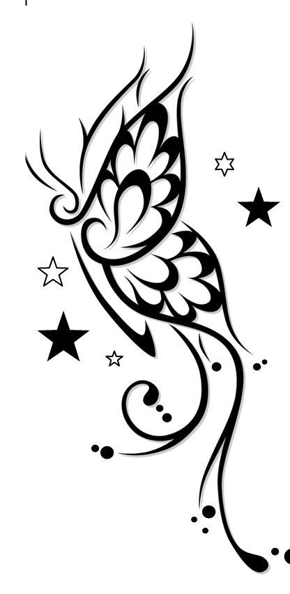 Ms de 25 ideas increbles sobre Tatuajes de mariposa en Pinterest