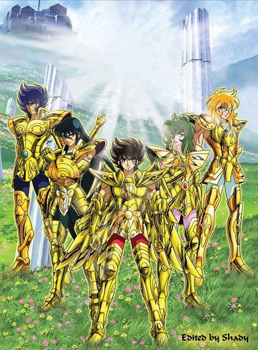 caballeros del zodiaco armaduras de oro
