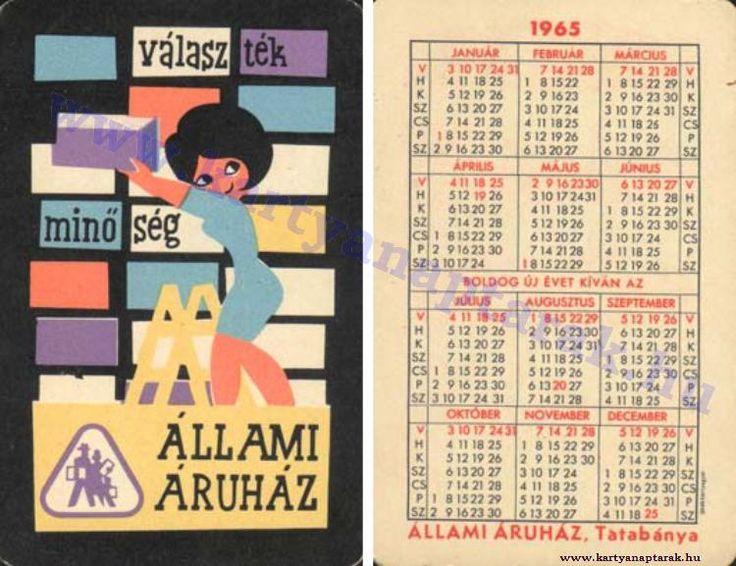 1965 - 1965_0185 - Régi magyar kártyanaptárak