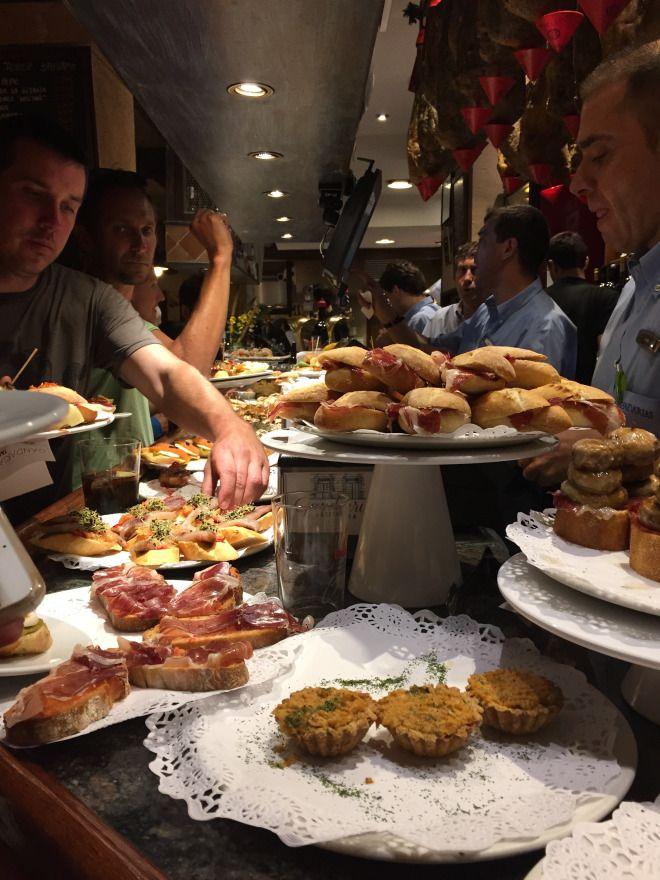 The chaos of ordering pintxos at Gandarias in San Sebastian, Spain