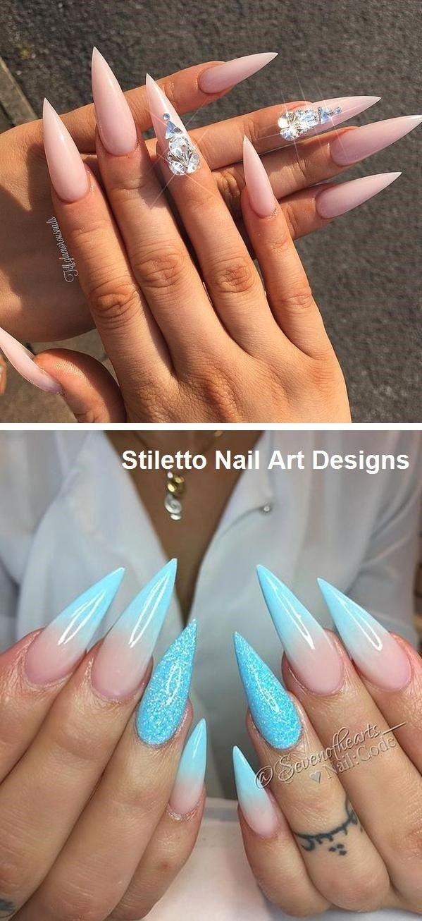 30 Great Stiletto Nail Art Design Ideas #naildesign – Nailart