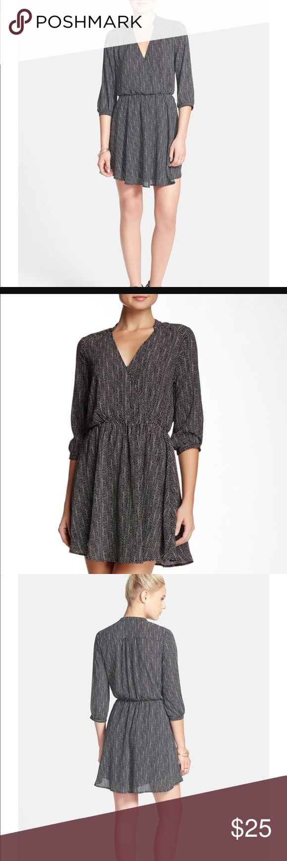 """Lush """"KENDAL"""" Polka Dot Print Surplice Dress A banded neck and cuffs add chic sophistication to a faux-wrap dress with a soft, flowy silhouette. New with tag / never worn. Great for work or night out Lush Dresses"""