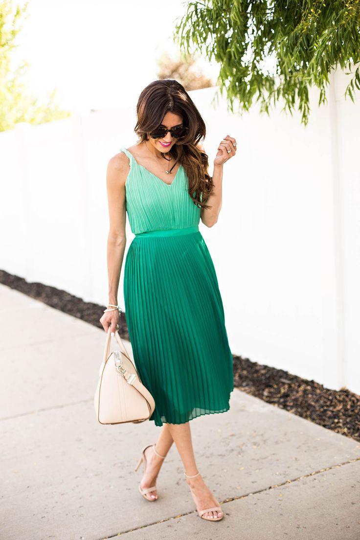 Jade ombre dress.