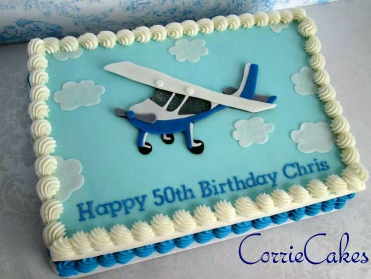 37 best images about 50th birthday ideas on pinterest for Airplane cake decoration