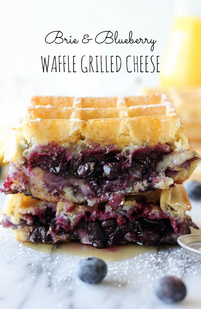 Brie and Blueberry Waffle Grilled Cheese | Damn Delicious  I can make it Paleo with goat cheese brie, palm sugar, grassfed ghee & @Against All Grain (Danielle)'s waffle recipe