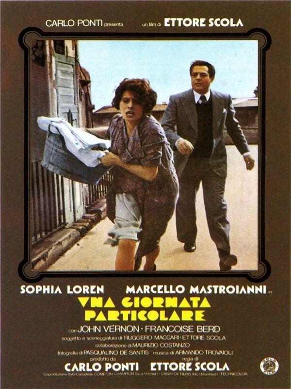 Una Giornata Particolare. Starring Sophia Loren and Marcello Mastroianni. Directed by Ettore Scola.