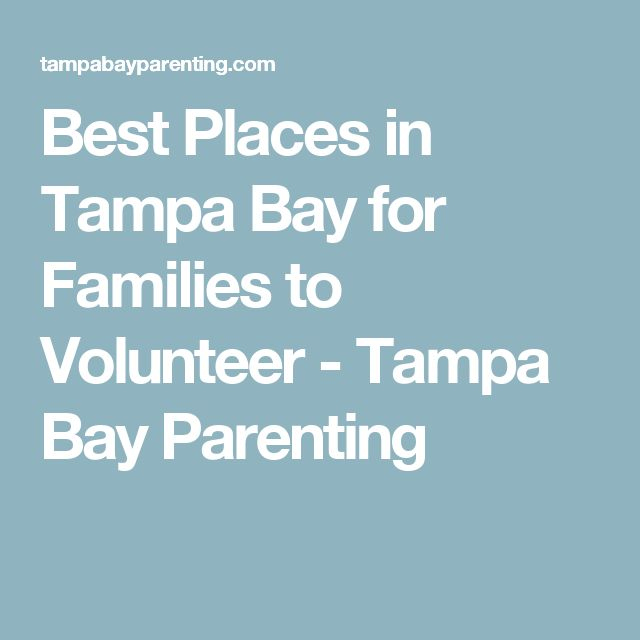 Best Places in Tampa Bay for Families to Volunteer - Tampa Bay Parenting