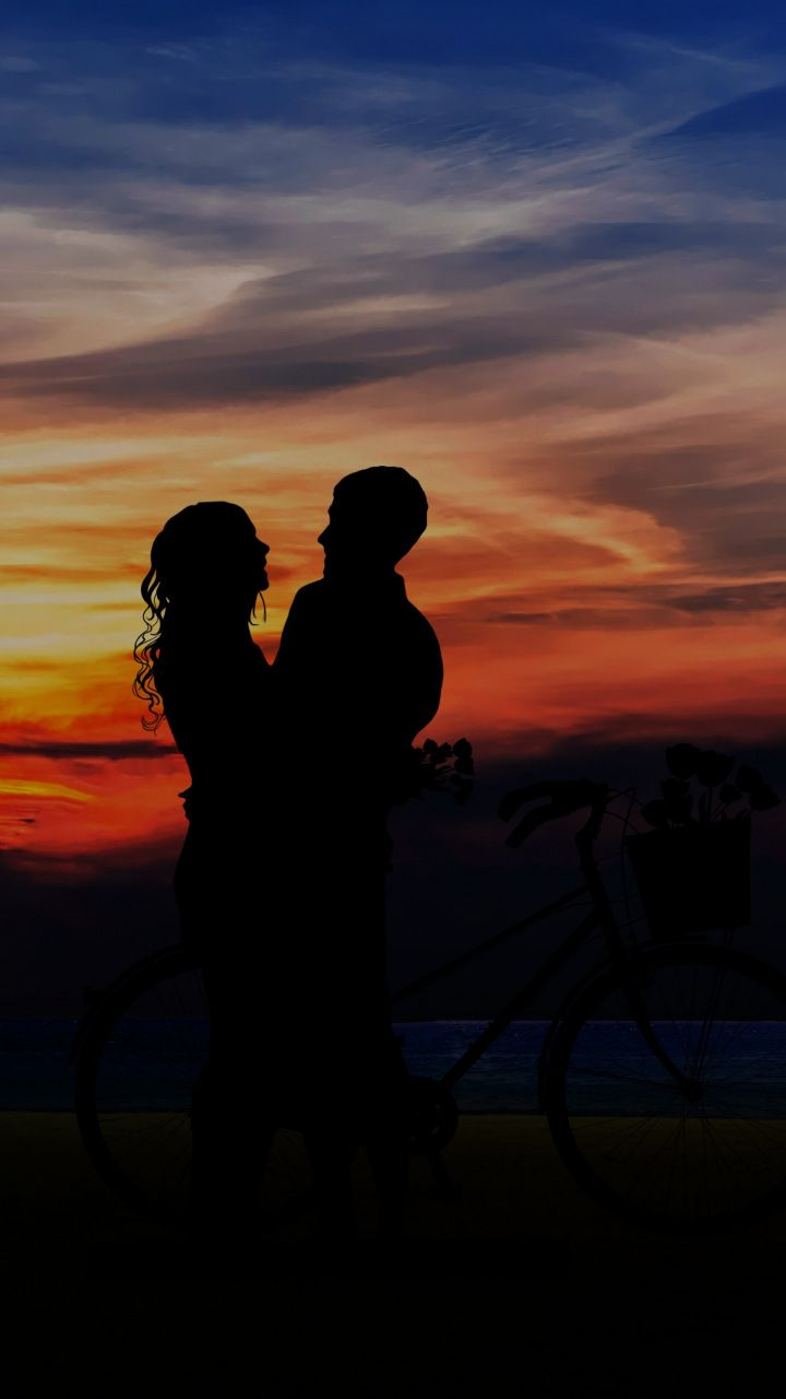 Couple Love Sunset Outdoor 720x1280 Wallpaper Sunset Outdoor Wallpaper