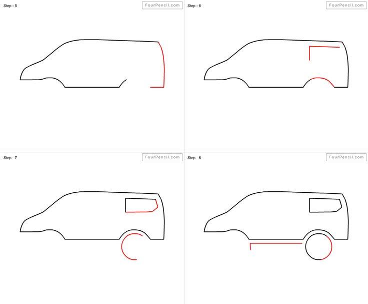 Easy Van Sketch For Kids Eyeviewnet Com
