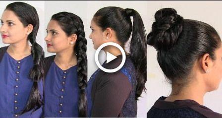 Coiffures faciles et simples dans les cheveux gras - Coiffure pour cheveux huilés - # coiffure # coiffures #oiled #simple - #frisuren -