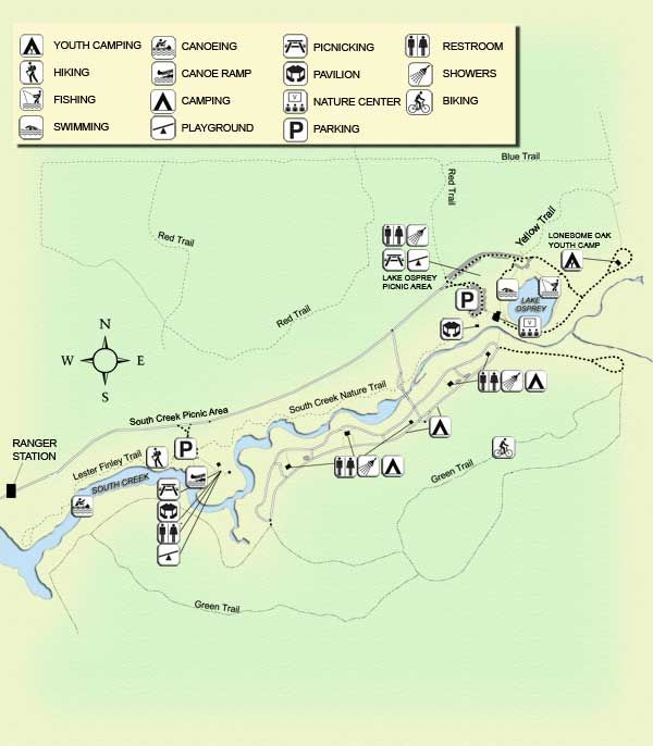 Map Of Oscar Scherer State Park Vacation Pinterest