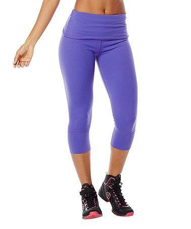 Purple Moon So Bootyful 2.0 Capri Leggings #zulily #zulilyfinds