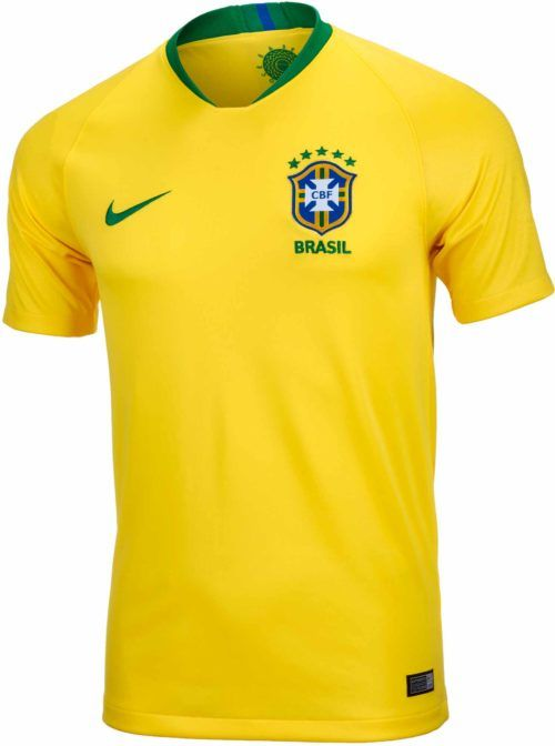 70d1e8351df 2018 19 Nike Brazil Home Jersey. Buy it from SoccerPro