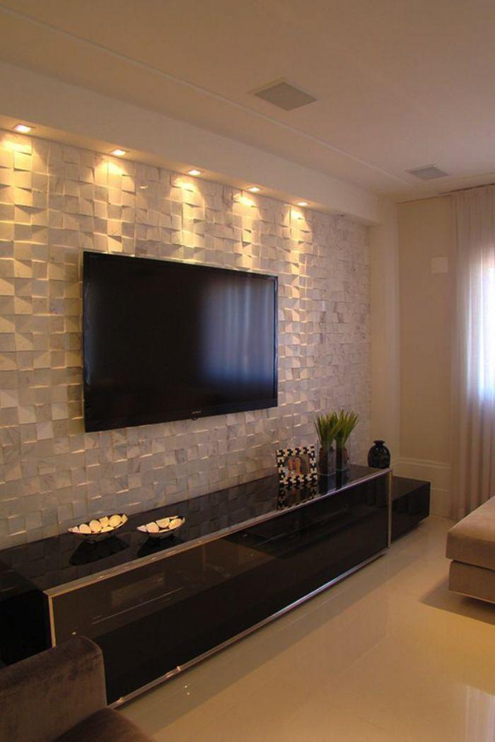 Revestimento 3d ou texturizado decora o pinterest for Revestimento 3d sala de estar