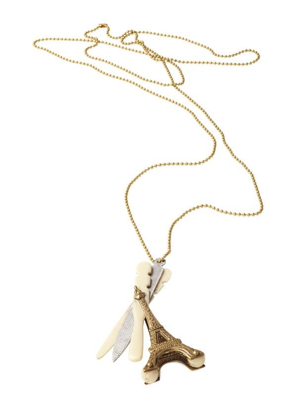 MAISON SCOTCH Eiffel Tower Necklace